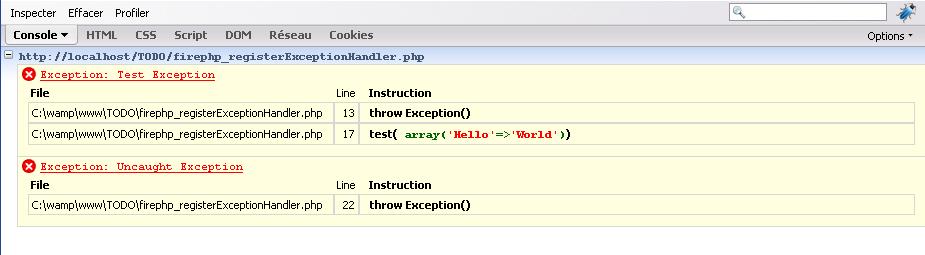registerExceptionHandler example