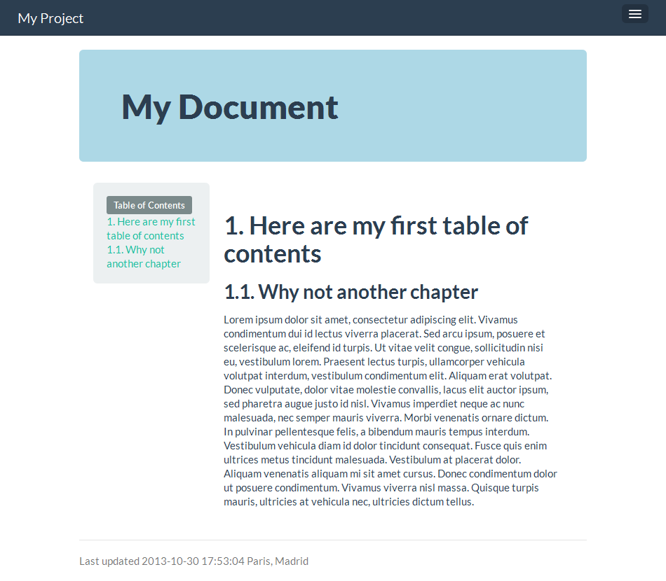 Example Templates For Asciidoc Bootstrap